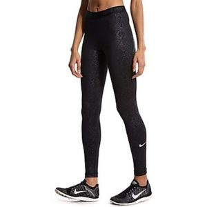 Nike Pro Warm Embossed Vixen Compression Leggings